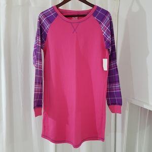 NWT Joe Boxer Purple/Pink Flannel Pajama Dress